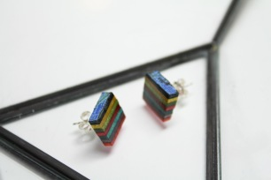 Thrashion recycled skateboard cube studs
