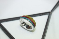 Thrashion recycled skateboard impossible ring