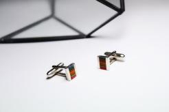 Thrashion recycled skateboard stripe cufflinks