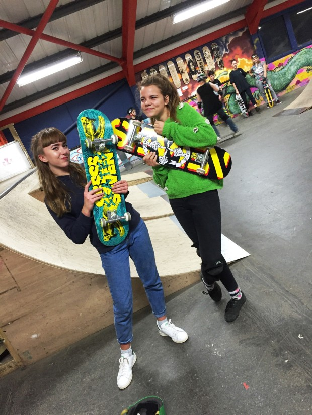 Molly and Roxy came and tested out out new boards donated by Absolute UK!