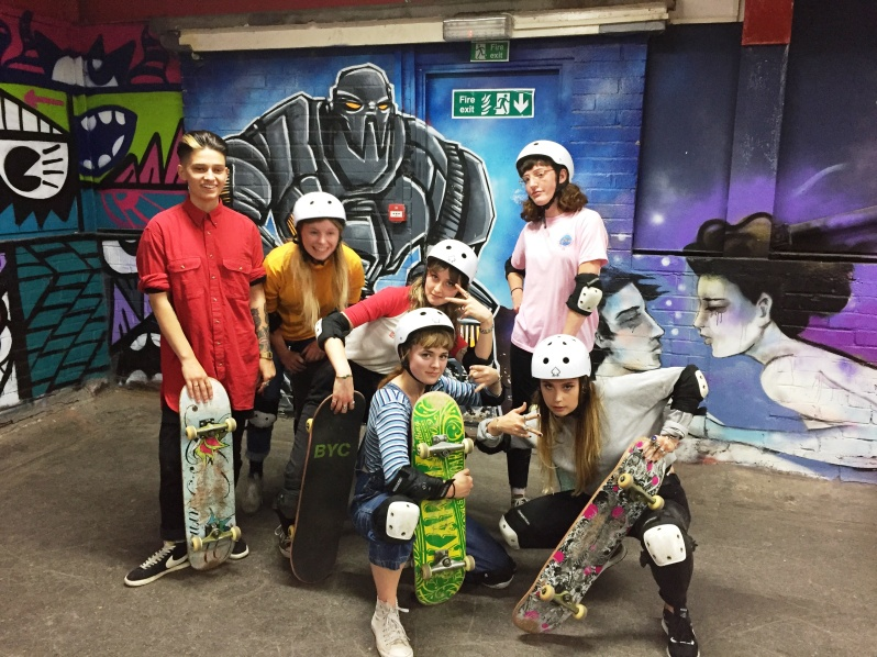 Aileen, Lauren, Laura, Lucy, Sam and Carina showed up and shredded hard
