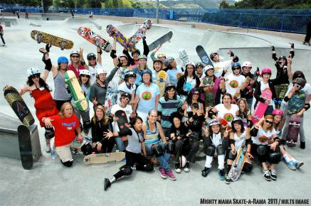 The Might Mama Skate-O-Rama crew, 2011. Photo: Chuck Hults.