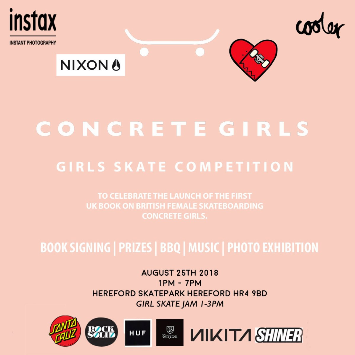 Concrete Girls - Girl Skate Jam Aug 25th 2018 - Hereford Skatepark.